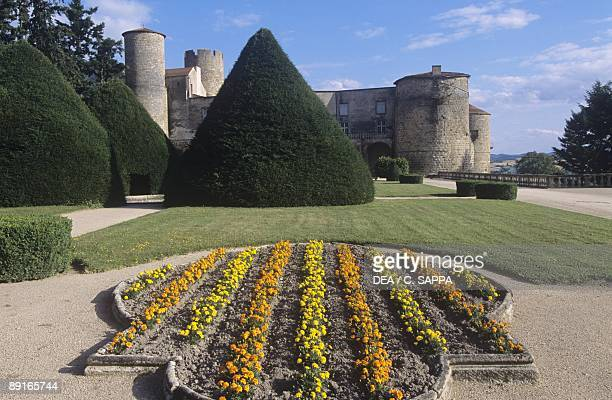 France Auvergne PuydeDome gardens of 12th century Ravel castle