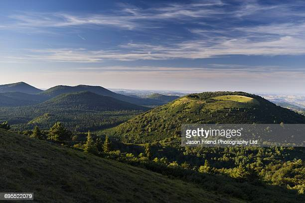 france, auvergne, volcanoes of auvergne - auvergne stock pictures, royalty-free photos & images