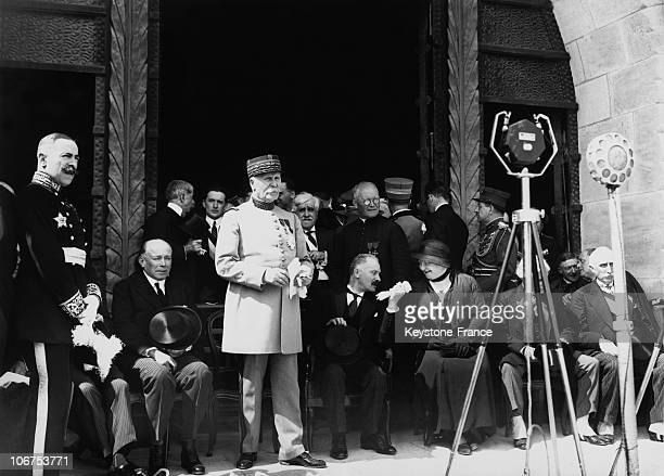 France Battle Of Verdun Marshal Petain At The Inauguration Of The Douaumont Ossuary In 1932