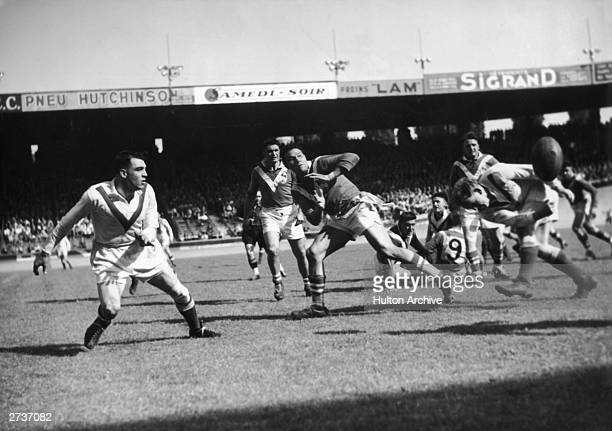 France beats Great Britain at rugby 2212 at Parc des Princes in Paris 22nd May 1952