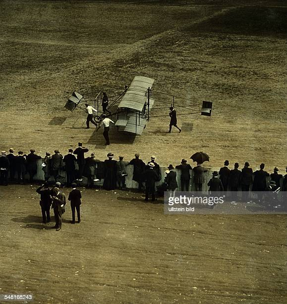 France beginning of aviation Reims Air Meet August 1909 Pulling the Voisin aeroplan no further details