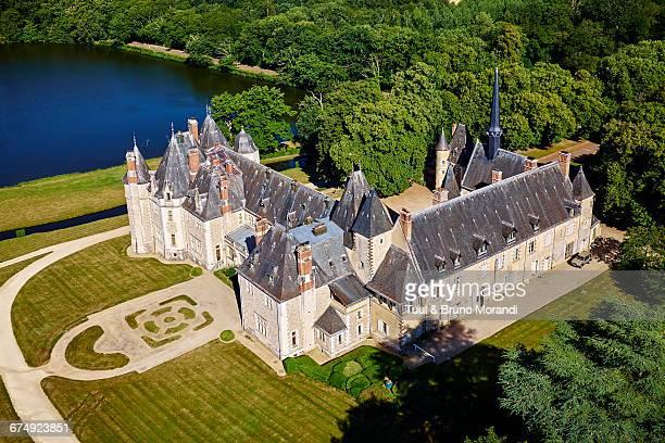 france, berry, la verrerie castle - cher stock pictures, royalty-free photos & images