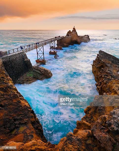 France, Biarritz, Pyrenees-Atlantique, Pier.