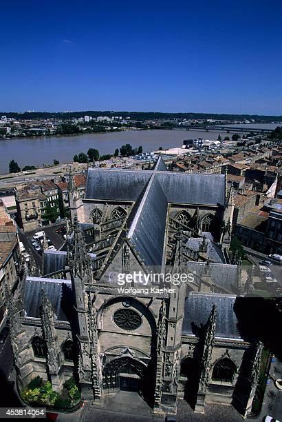France Bordeaux Garonne River St Michel Church