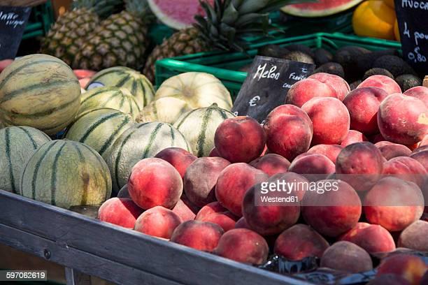 France, Bormes-les-Mimosas, fruit stall