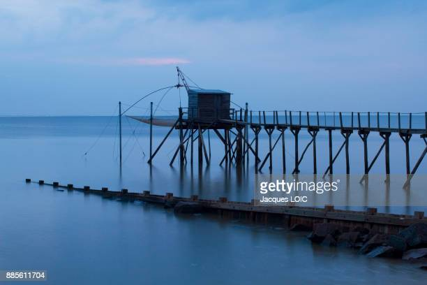 France, Bourgneuf Bay, Les Moutiers-en-Retz, fishery.