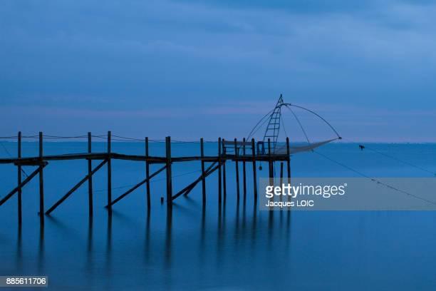 France, Bourgneuf Bay, Moutiers-en-Retz, fishery.