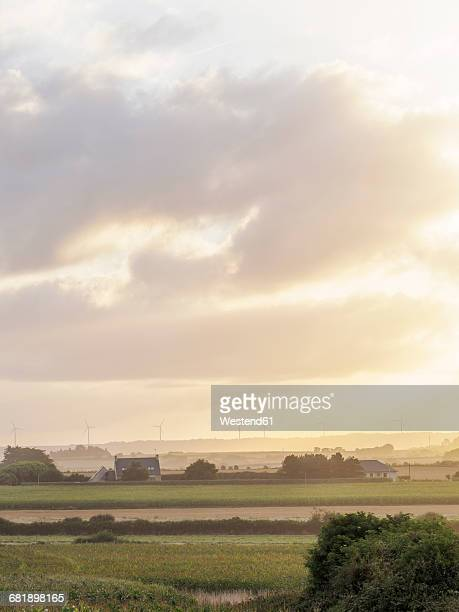 France, Bretagne, Early morning in the Finistere