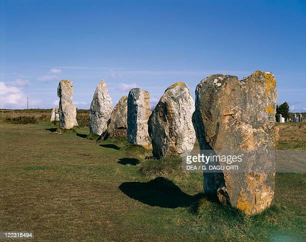 France Brittany Carnac Prehistoric megalithic alignements