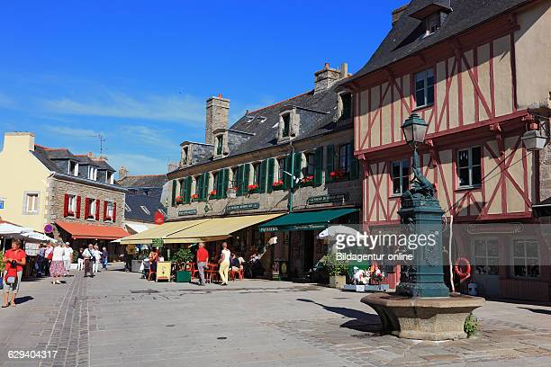 France Brittany Concarneau Fountain in the historic city Ville close