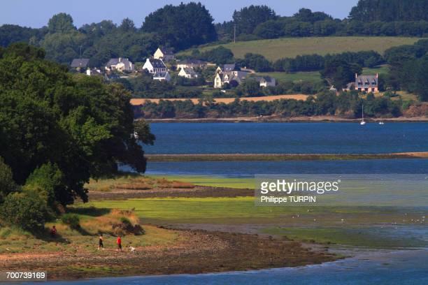 France, Brittany, Crozon Peninsula. Land_vennec. Rade de Brest. Aulne mouth.
