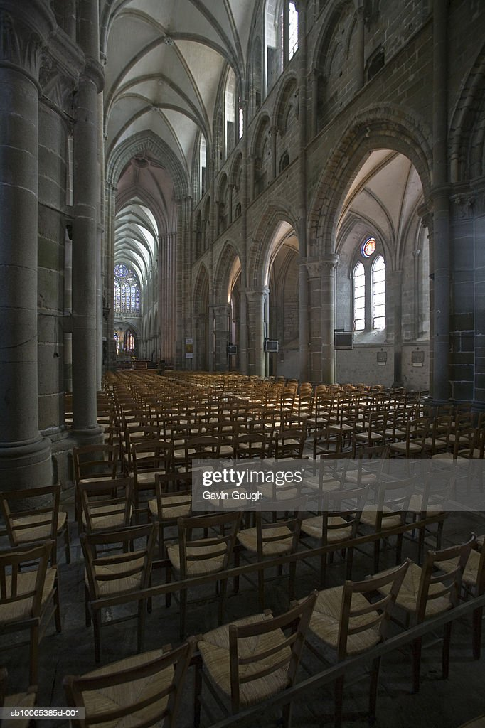 France, Brittany, Dol-de-Bretagne, Saint Samson Cathedral interior, : Foto stock