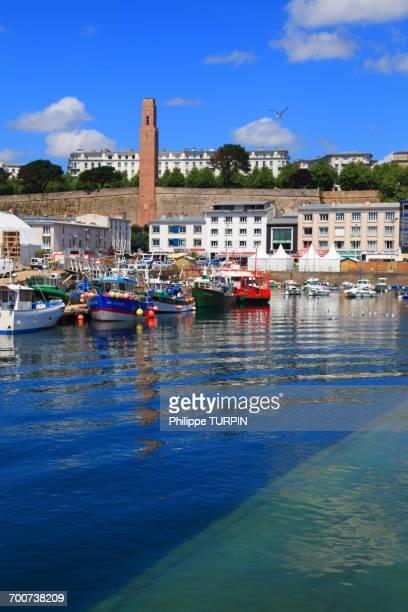 France, Brittany, Finistere, Brest. La Tour Rose. Docks district