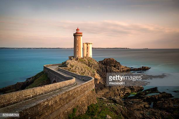 France, Brittany, Phare du Petit Minou in the evening