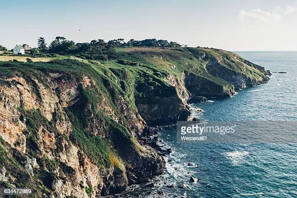 France, Brittany, Roscanvel, Atlantic, steep coast