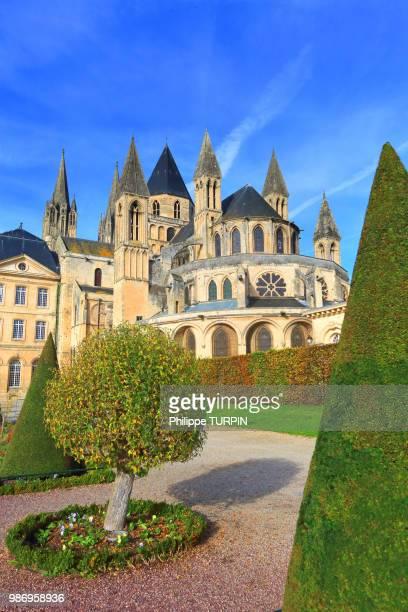 france, calvados, caenmen abbey - calvados stock pictures, royalty-free photos & images