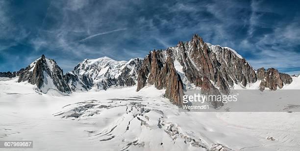 France, Chamonix, Mont Blanc range, Tour Ronde, Grand Capucin, Mont Maudit, Mont Blanc