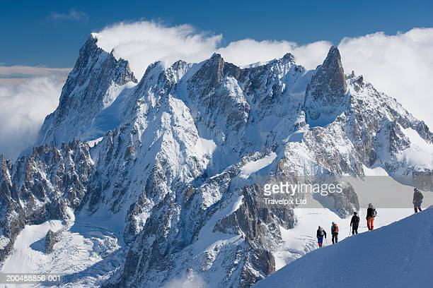 France Chamonoix, mountainiers on the Grand Jurasses