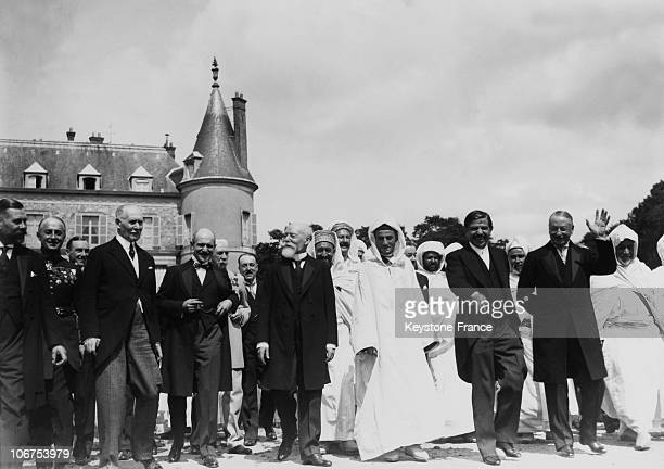 France Chateau De Rambouillet The Sultan Of Morocco Guest Of President Paul Doumer And Pierre Laval In August 1931