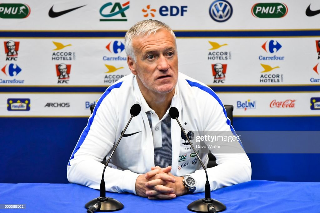 France coach Didier Deschamps during press conference of the soccer french national team at Centre National du Football on March 20, 2017 in Clairefontaine, France.