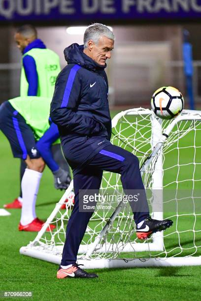 France coach Didier Deschamps during the training session at the Centre National de Football in Clairefontaine en Yvelines France on November 6 2017