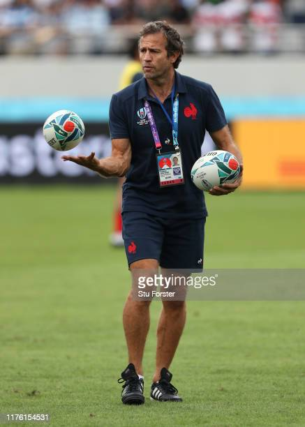 France coach Fabien Galthie pictured during the Rugby World Cup 2019 Group C game between France and Argentina at Tokyo Stadium on September 21 2019...
