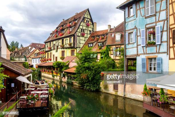 France, Colmar, Old town, half-timbered houses in Little Venice