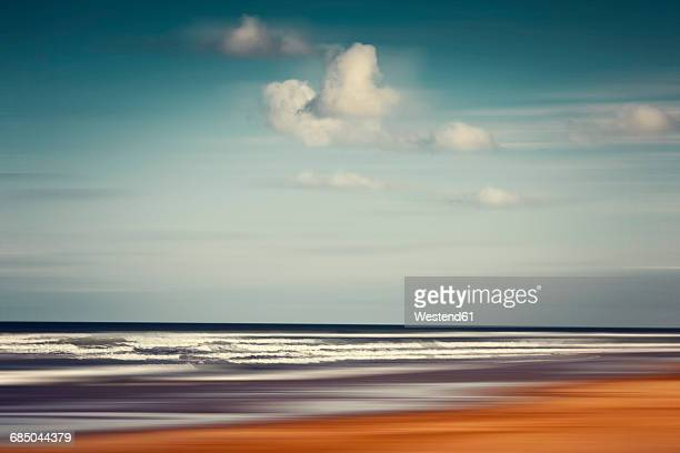 France, Contis-Plage, abstract beach landscape