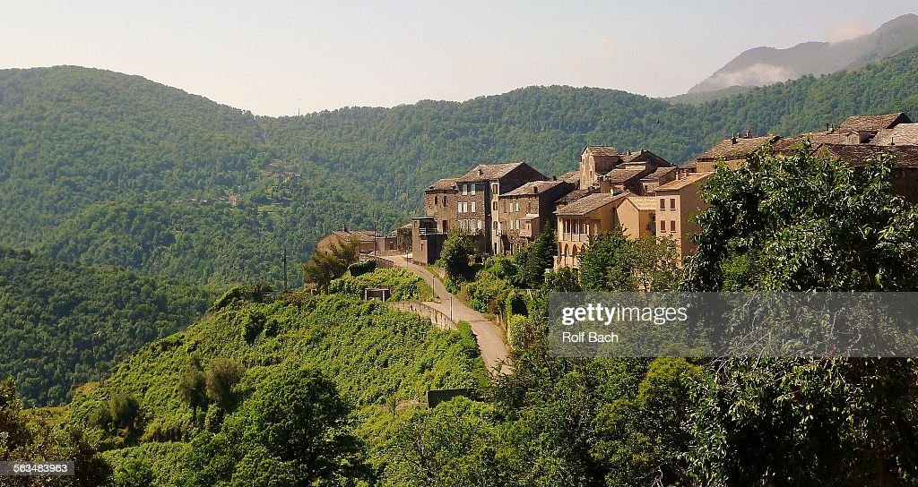 France, Corsica - village in the mountains : Stock Photo
