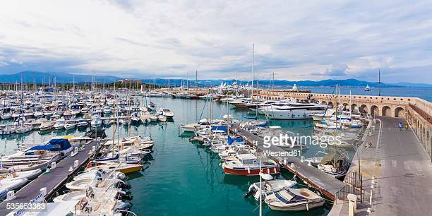 france, cote d'azur, antibes, marina - antibes stock photos and pictures