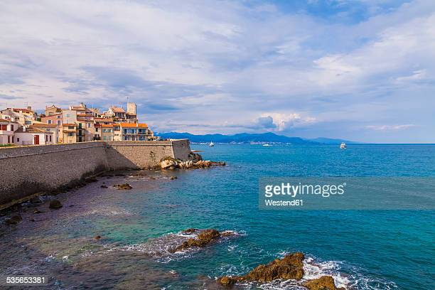 france, cote d'azur, antibes, old town - antibes stock photos and pictures