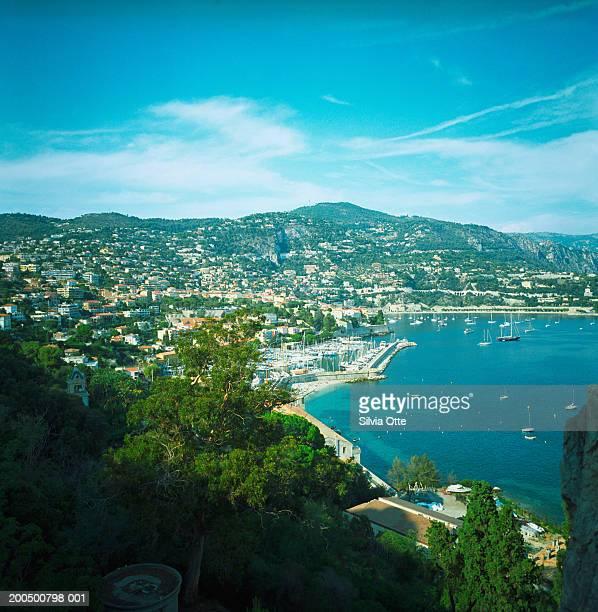 France, Cote d'Azur, Villefranche-sur-Mer, boats in harbour