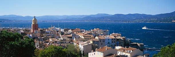France, Cote-d'Azur, St Tropez, Townscape, Elevated View Wall Art