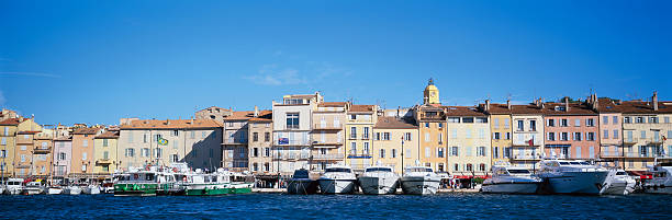 France, Cote-d'Azur, St Tropez, Yachts In Harbour Wall Art