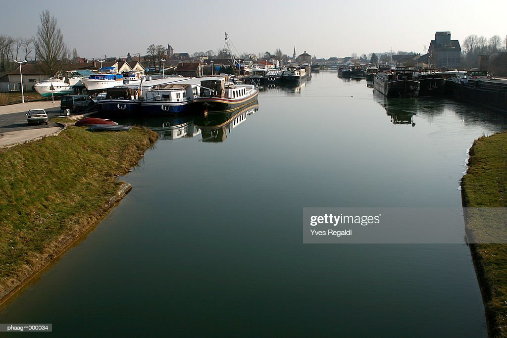 France, Cote-d'Or, Saint-Jean-de-Losne, the river Saone : Stockfoto