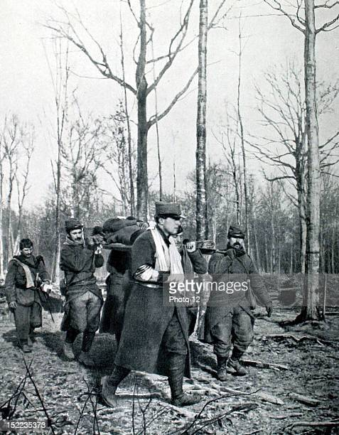 France December 26 World War I On the Bolante plateau in Argonne the death of Captain Bruno Garibaldi grandson of Garibaldi His body is being carried...