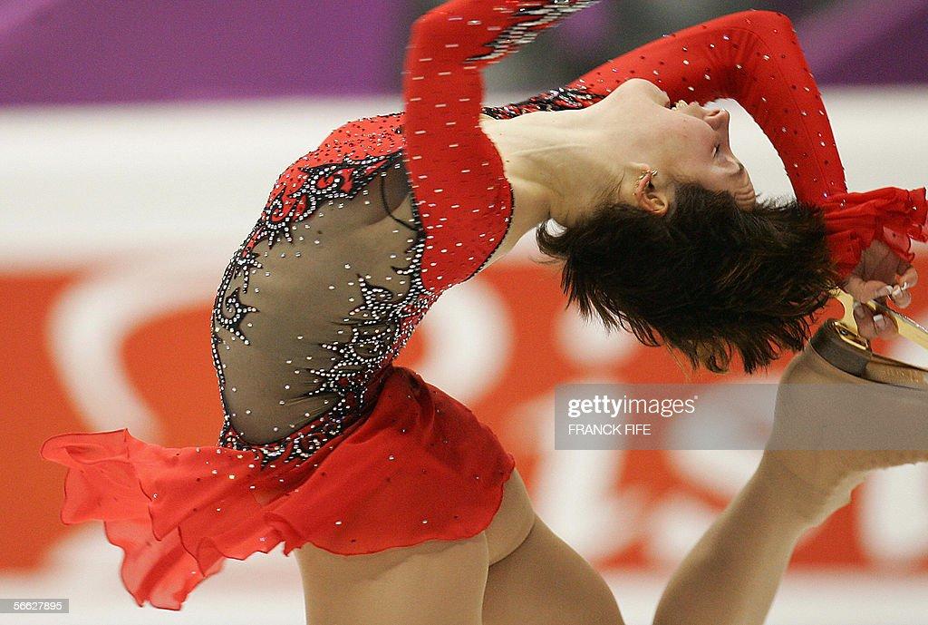 Defending champion Russia's Irina Slutskaya performs in ...