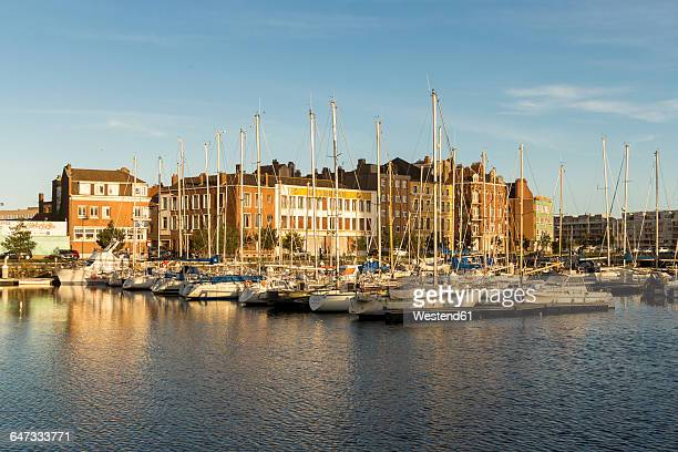 France, Dunkerque, Harbour in the evening