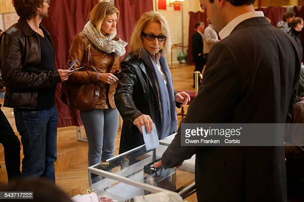 France Elections 2012 Presidential vote second tour the French voting at the Mairie of the 16th Arrondissement a wealthy area of Paris Photograph by...