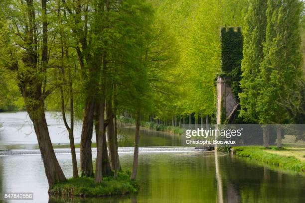 France, Eure-et-Loir, Anet castle, The gardens and pond