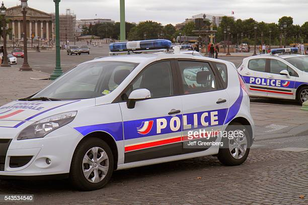 France Europe French Paris 1st arrondissement Place de la Concorde national police car vehicle