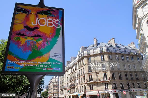 France Europe French Paris 5th arrondissement Latin Quarter Rive Gauche Left Bank Rue des ƒcoles movie cinema billboard poster ad