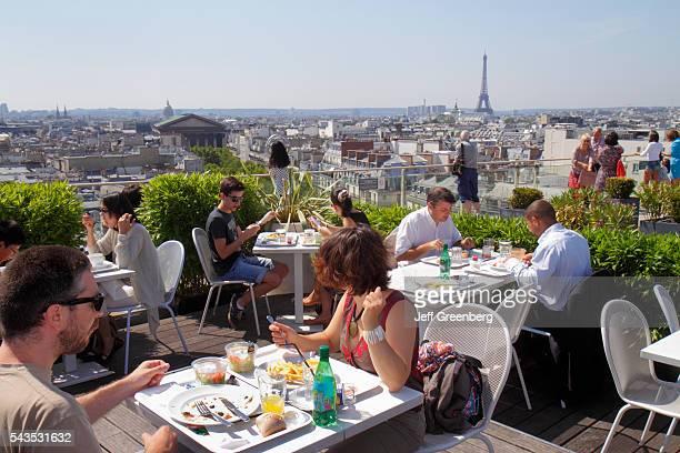 France Europe French Paris 9th arrondissement Boulevard Haussmann Au Printemps department store rooftop terrace city skyline view