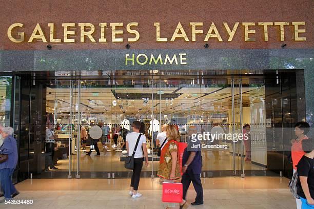 France Europe French Paris 9th arrondissement Boulevard Haussmann Galleries Lafayette department store shopping front entrance