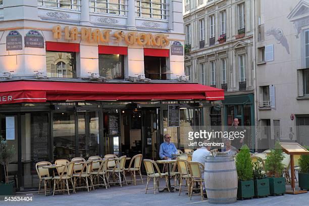 France Europe French Paris Place Saint St. Georges 9th arrondissement A La Place St. Georges restaurant cafe brasserie.