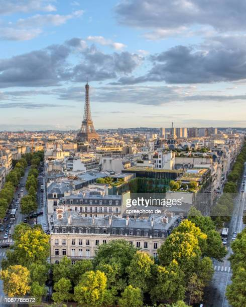 france, europe, paris, eiffel tower - admirer le paysage photos et images de collection