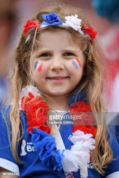 France fan looks on prior to the 2018 FIFA World Cup Russia Round of 16 match between France and Argentina at Kazan Arena on June 30 2018 in Kazan...