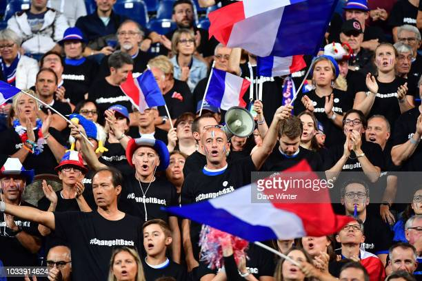 France fans during Day 2 of the Davis Cup semi final on September 15 2018 in Lille France