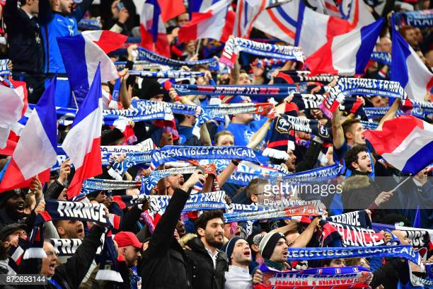 France fans during the international friendly match between France and Wales at Stade de France on November 10 2017 in Paris France