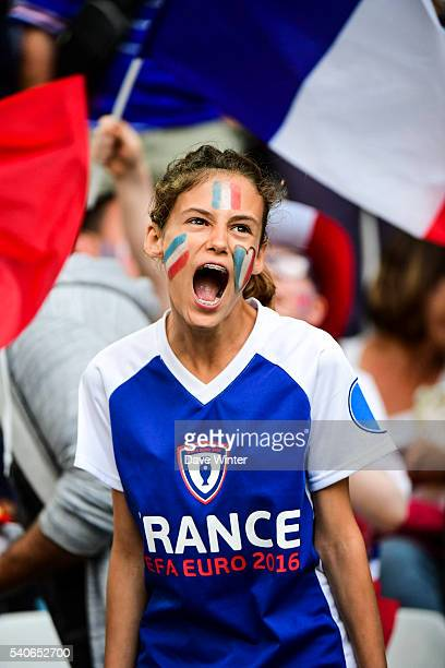 France fans during the UEFA EURO 2016 Group A match between France and Albania at Stade Velodrome on June 15 2016 in Marseille France